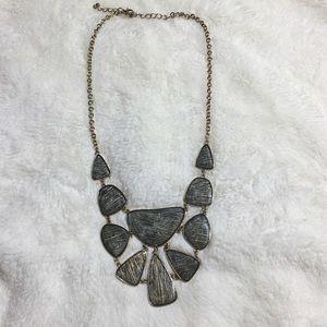 Jewelry - Midnight Glitter and Gold Statement  Bib Necklace